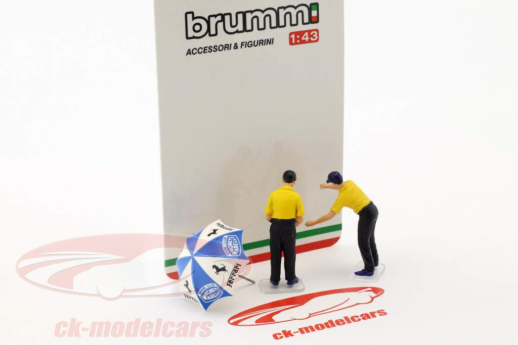 Set Pit Stop Mechanics With umbrella 1:43 Brumm
