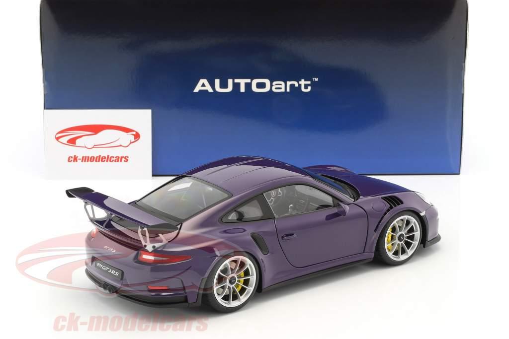 Porsche 911 (991) GT3 RS anno di costruzione 2016 ultra viola con argento ruote 1:18 AUTOart