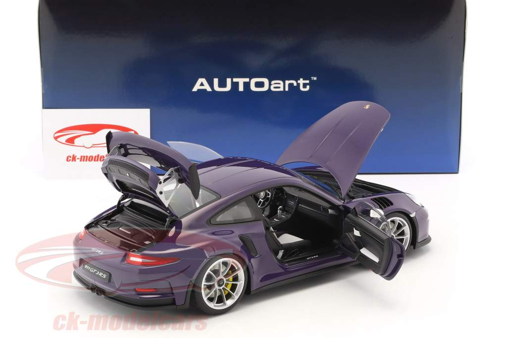 Porsche 911 (991) GT3 RS 116,16year 2016 ultra violet with silver wheels 1:18 AUTOart