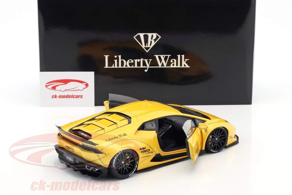 Lamborghini Huracan Liberty Walk LB-Works jaune métallique 1:18 AUTOart