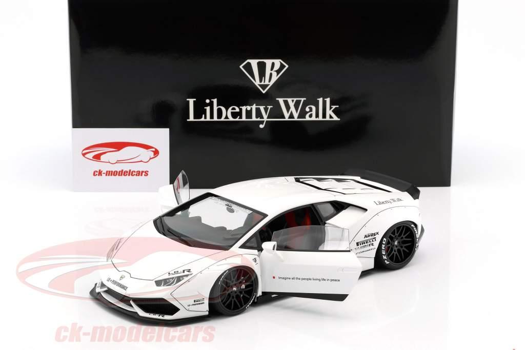 Lamborghini Huracan Liberty Walk LB-Works blanc 1:18 AUTOart