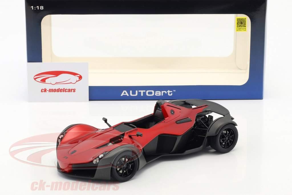 BAC Mono Baujahr 2011 rot metallic / schwarz 1:18 AUTOart