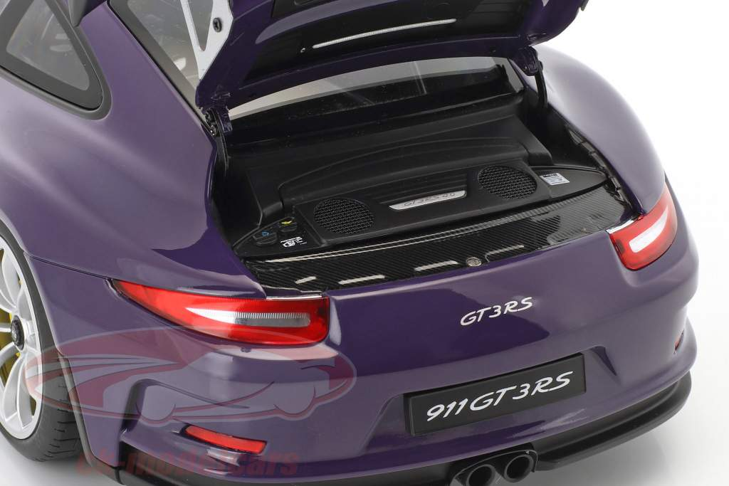 Porsche 911 (991) GT3 RS année de construction 2016 ultra violet avec argent roues 1:18 AUTOart