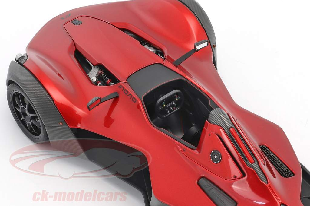 BAC Mono Year 2011 red metallic / black 1:18 AUTOart