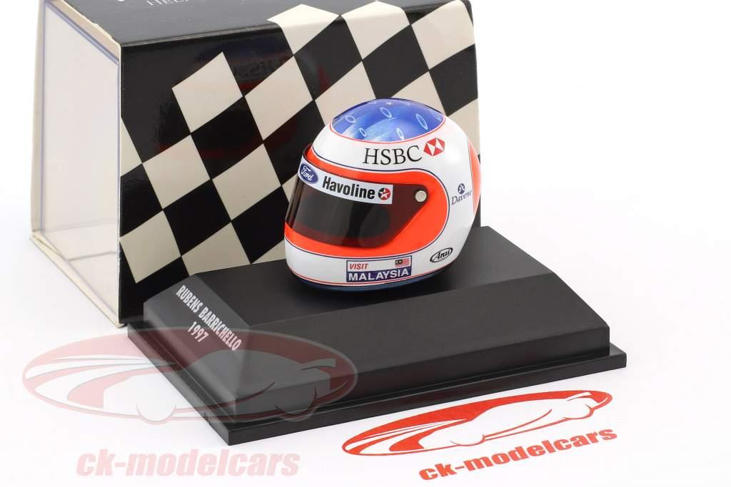 Rubens Barrichello Formel 1 1997 Helm 1:8 Minichamps