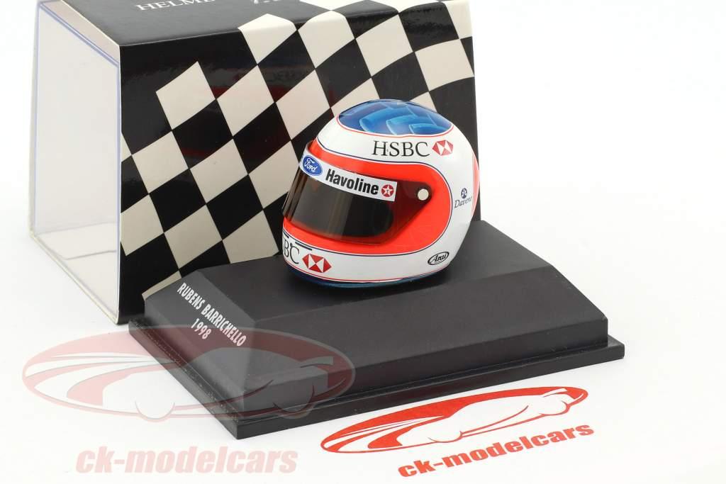 Rubens Barrichello formule 1 1998 casque 1:8 Minichamps