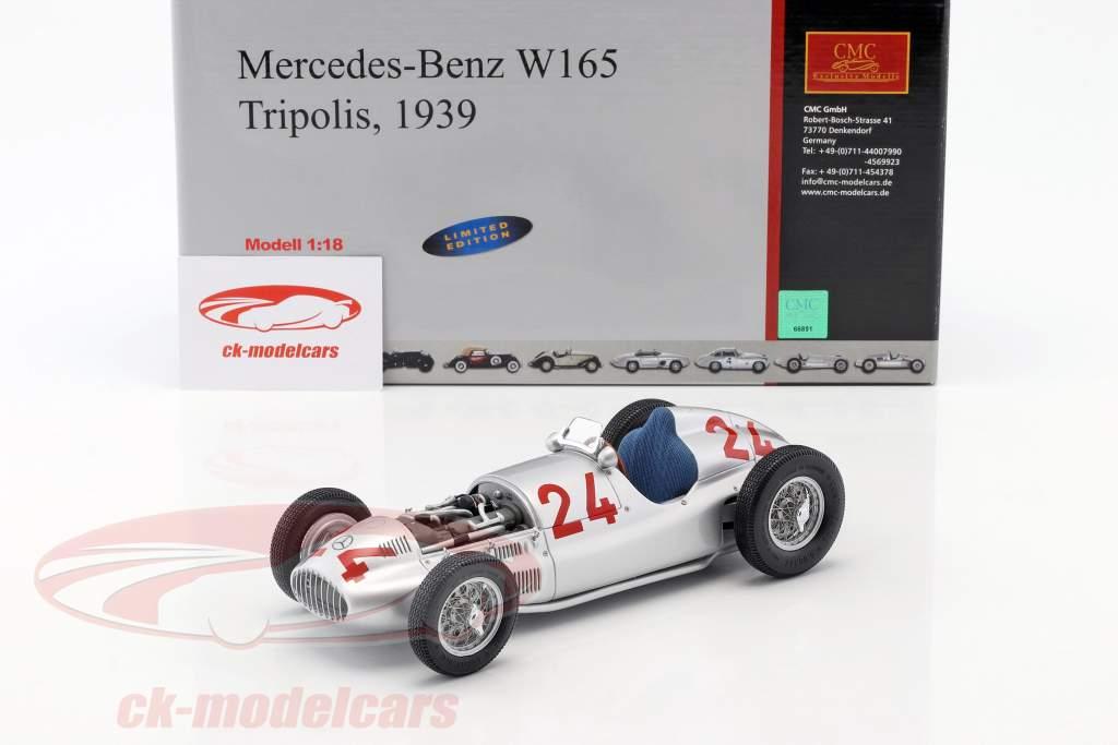 R. Carracciola Mercedes-Benz W165 #24 公式 1 Tripolis 1939 1:18 CMC
