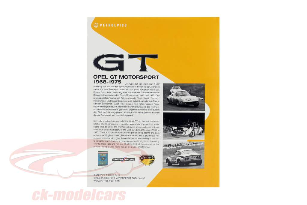 bog: Opel GT Motorsport 1968-1975 af M. van Sevecotte / D. Kurzrock / S. Müller