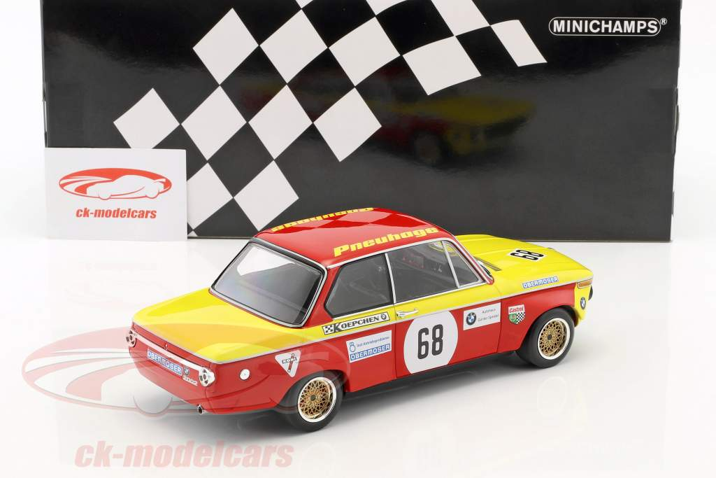 BMW 2002 #68 pris af den nationer Hockenheim 1970 Jörg Obermoser 1:18 Minichamps