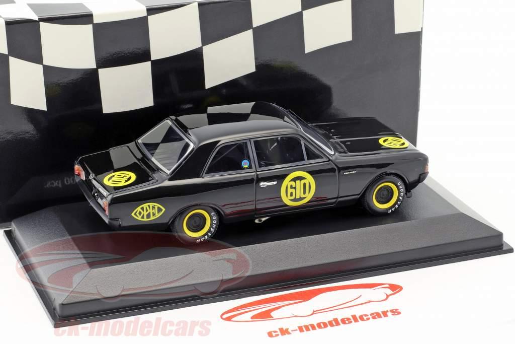 Opel Rekord 1900 nero vedova #610 finale di stagione Hockenheim 1968 Erich Bitter 1:43 Minichamps