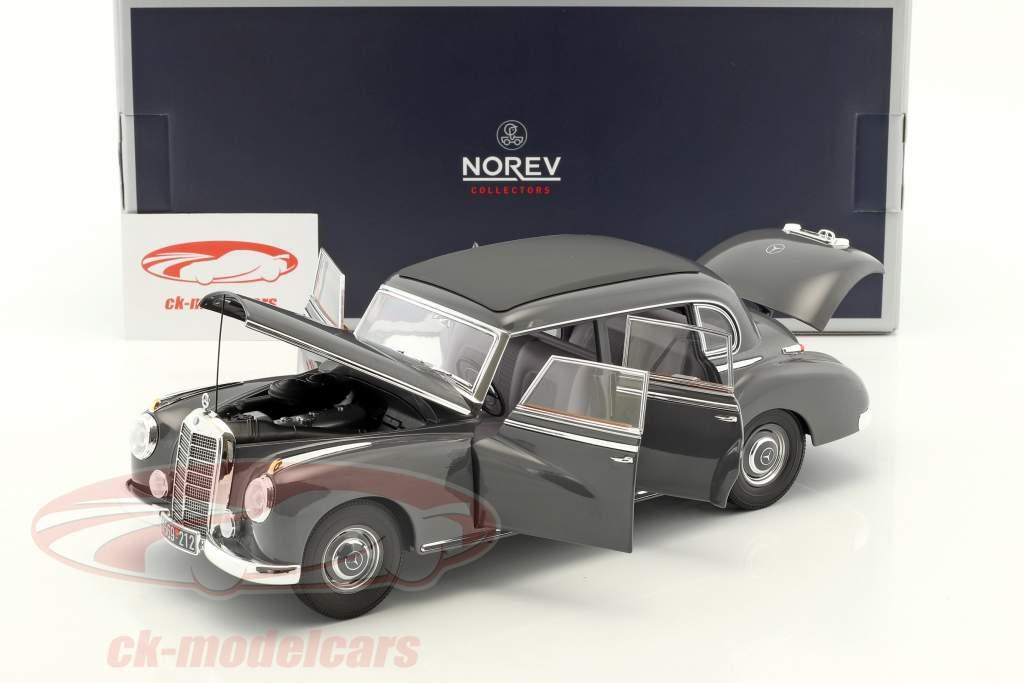 Mercedes-Benz 300 Baujahr 1955 dunkelgrau 1:18 Norev