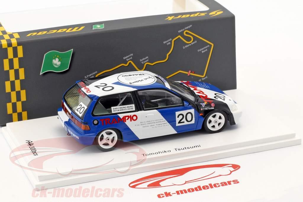 Honda Civic EF3 #20 3e Grp3 Macau Guia Race 1990 Tomohiko Tsutsumi 1:43 Spark