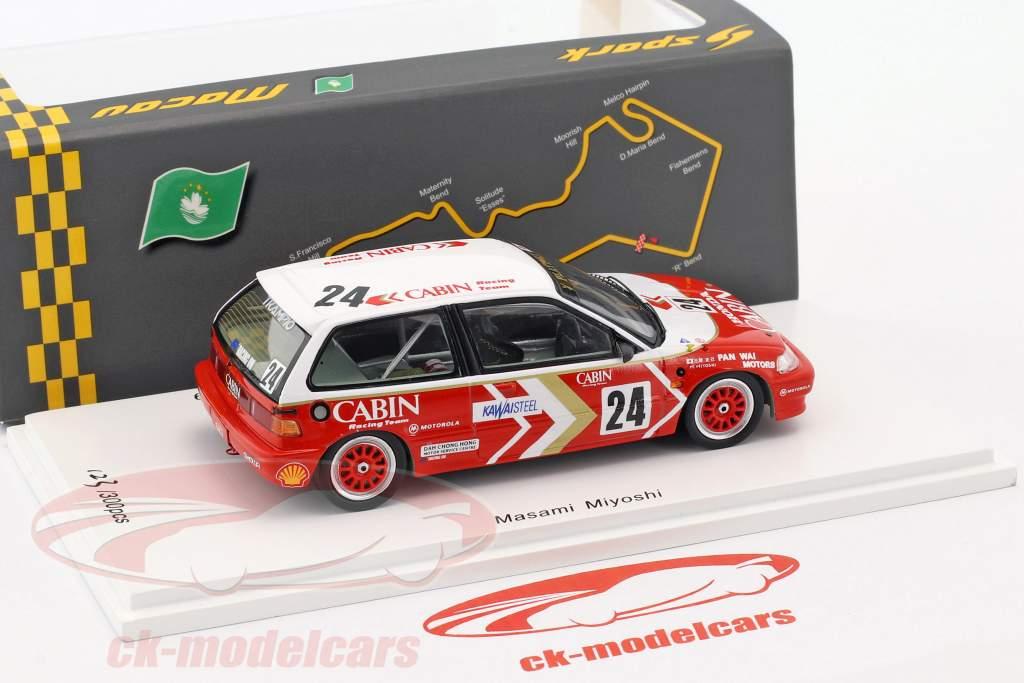 Honda Civic EF3 #24 3rd Grp3 Macau Guia Race 1989 Masami Miyoshi 1:43 Spark