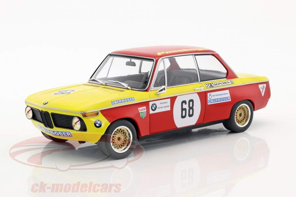 BMW 2002 #68 prijs van de volken Hockenheim 1970 Jörg Obermoser 1:18 Minichamps
