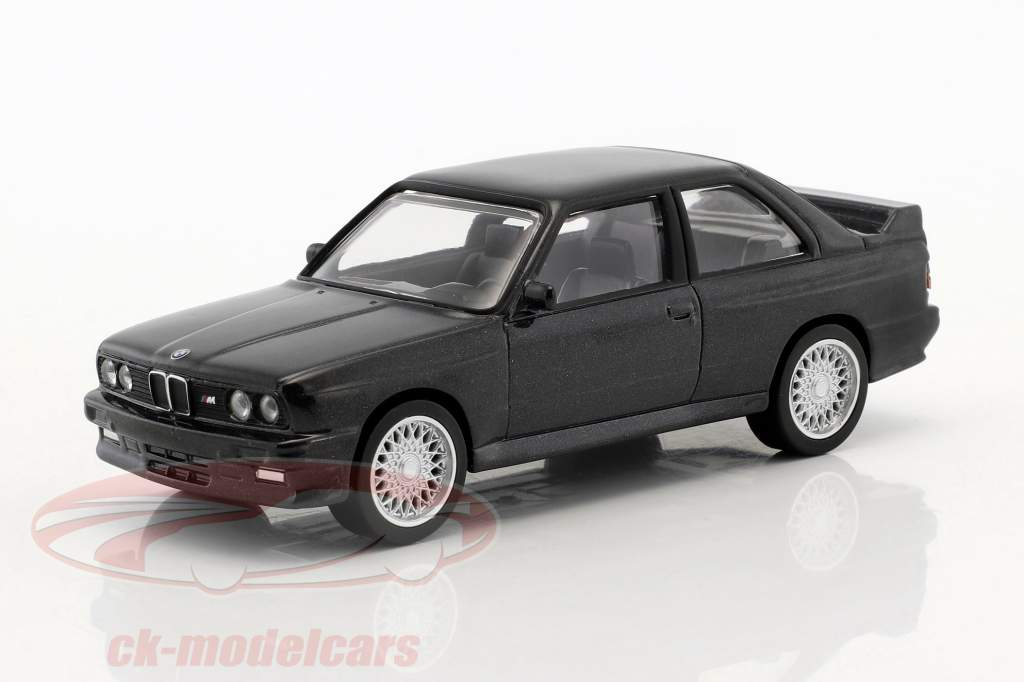 BMW M3 E30 Construction year 1986 Jet Car black metallic 1:43 Norev