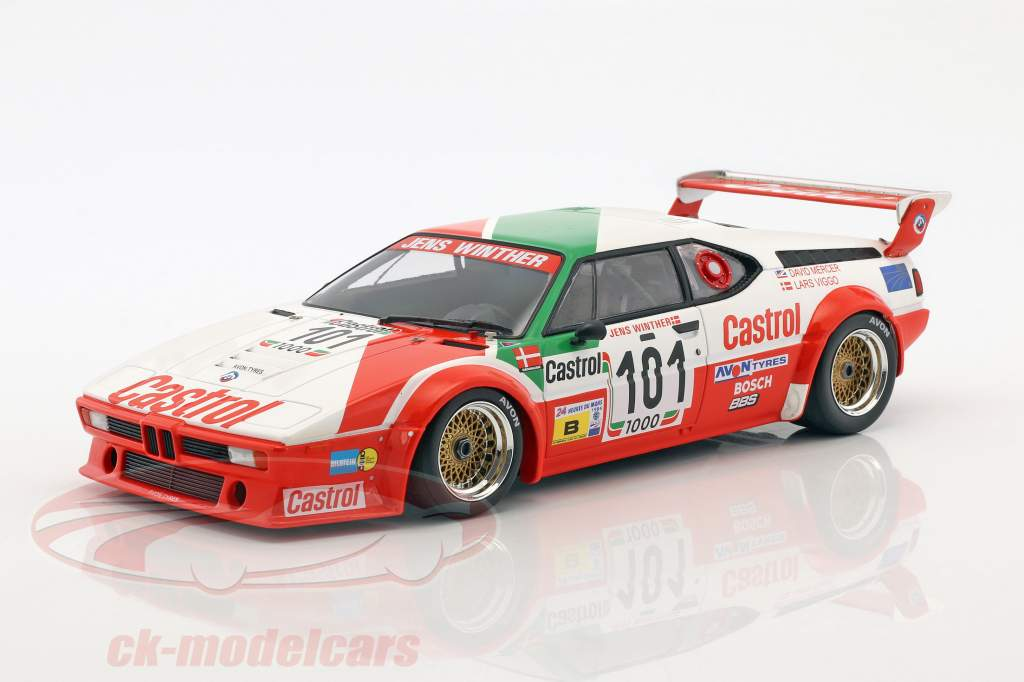 BMW M1 #101 24h LeMans 1984 Winther, Mercer, Jensen 1:18 Minichamps