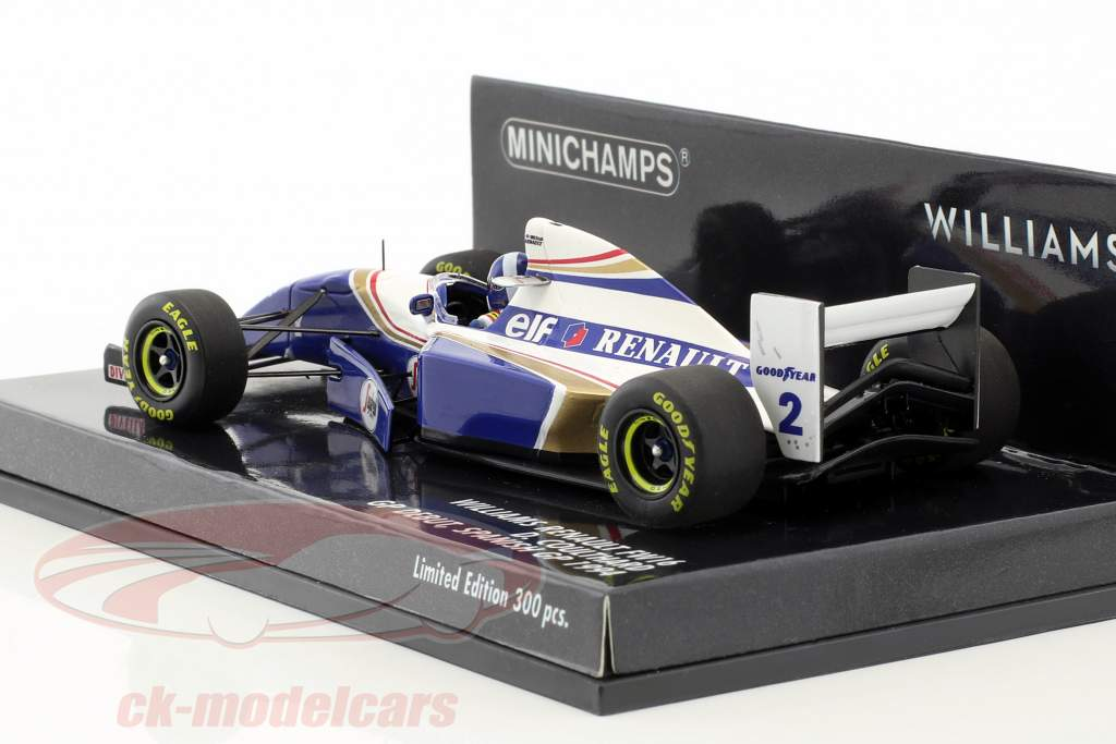 David Coulthard Williams FW16 #2 GP Debut spanish GP formula 1 1994 1:43 Minichamps