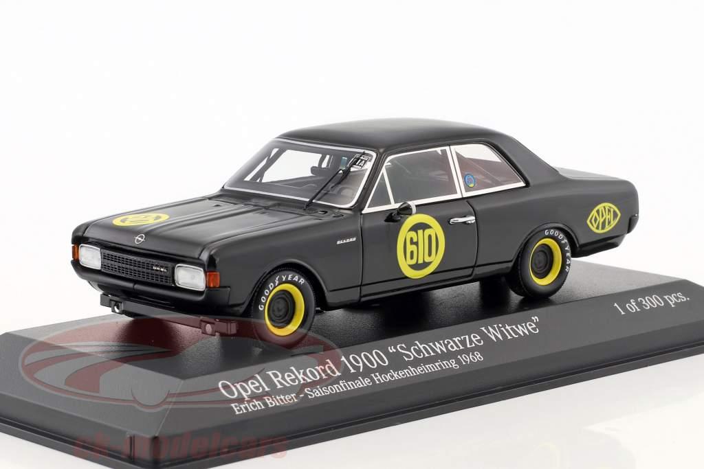 Opel Rekord 1900 noir veuve #610 finale de la saison Hockenheim 1968 Erich Bitter 1:43 Minichamps