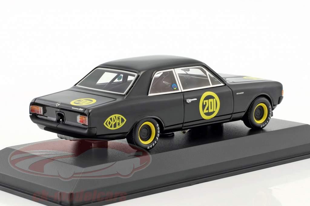 Opel Rekord 1900 nero vedova #201 Carolus Magnus Zolder 1968 Erich Bitter 1:43 Minichamps