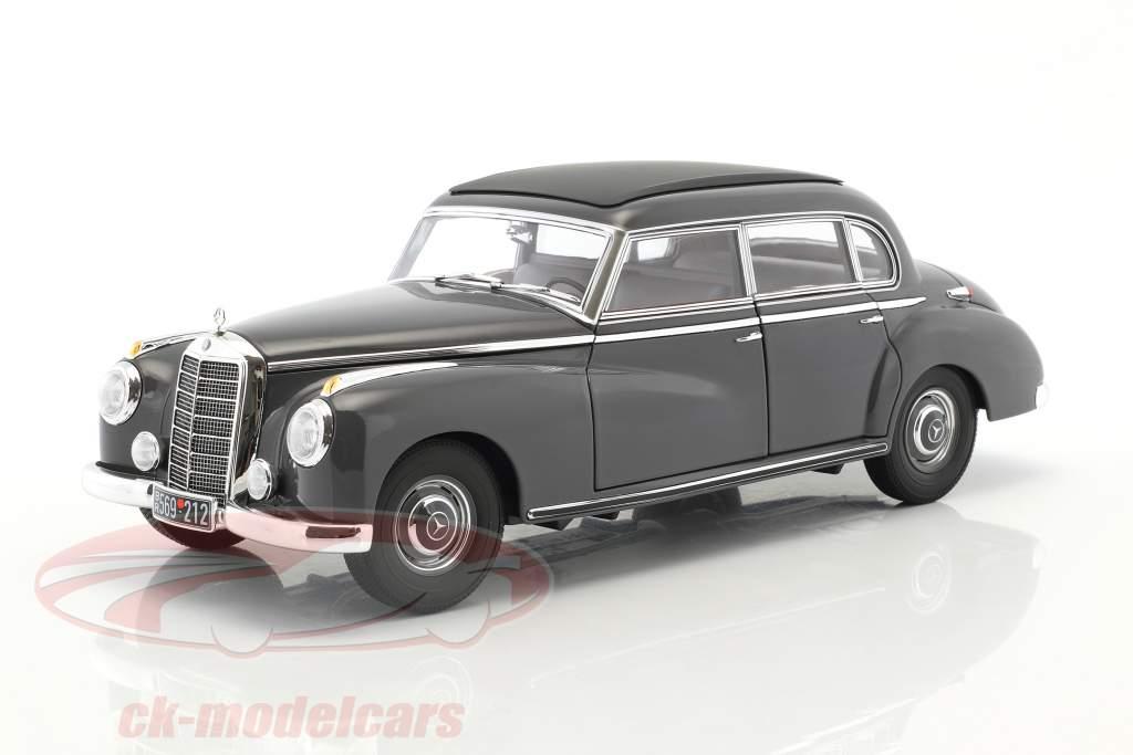 Mercedes-Benz 300 anno di costruzione 1955 scuro grigio 1:18 Norev