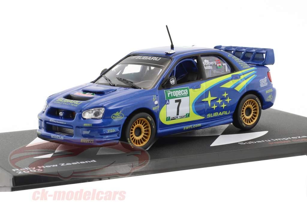 Subaru Impreza WRC #7 3rd Rallye New Zealand WRC champion 2003 Solberg, Mills 1:43 Altaya