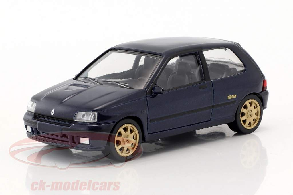 Renault Clio Williams Baujahr 1993 Jet Car blau metallic 1:43 Norev