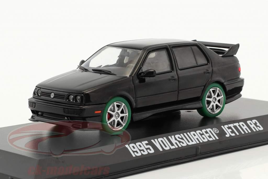 Greenlight 1 43 Volkswagen Vw Jetta A3 Year 1995 Black Green Tires