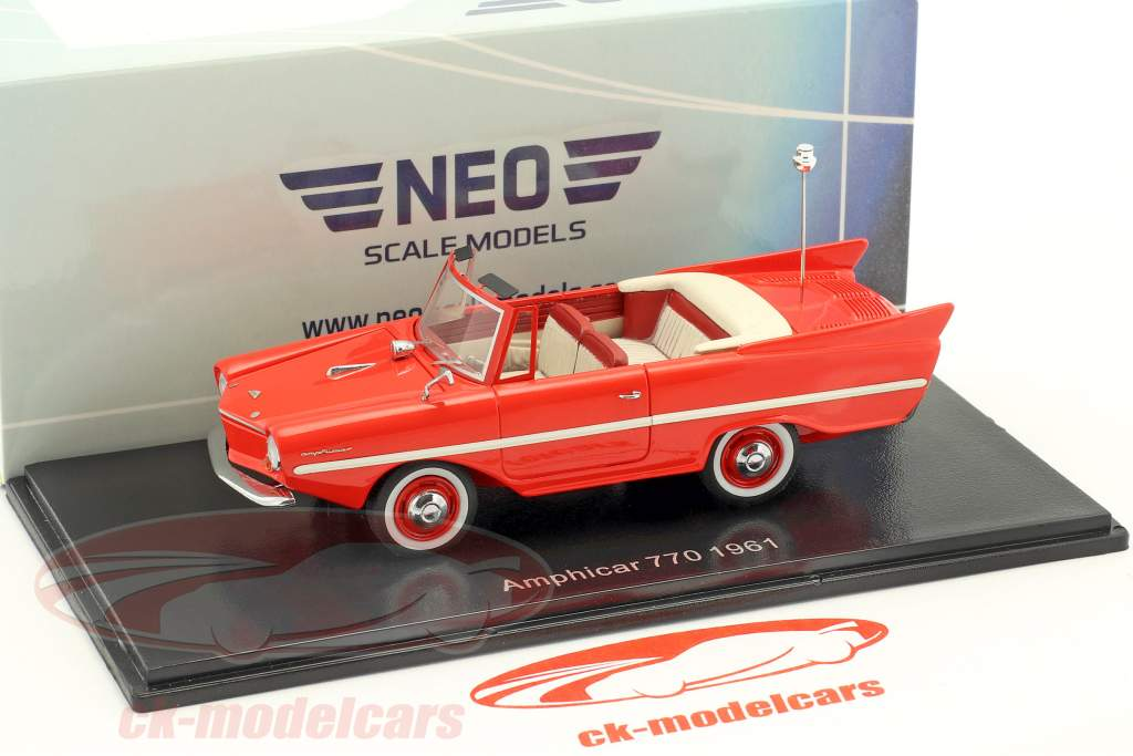 Amphicar 770 year 1961 red 1:43 Neo
