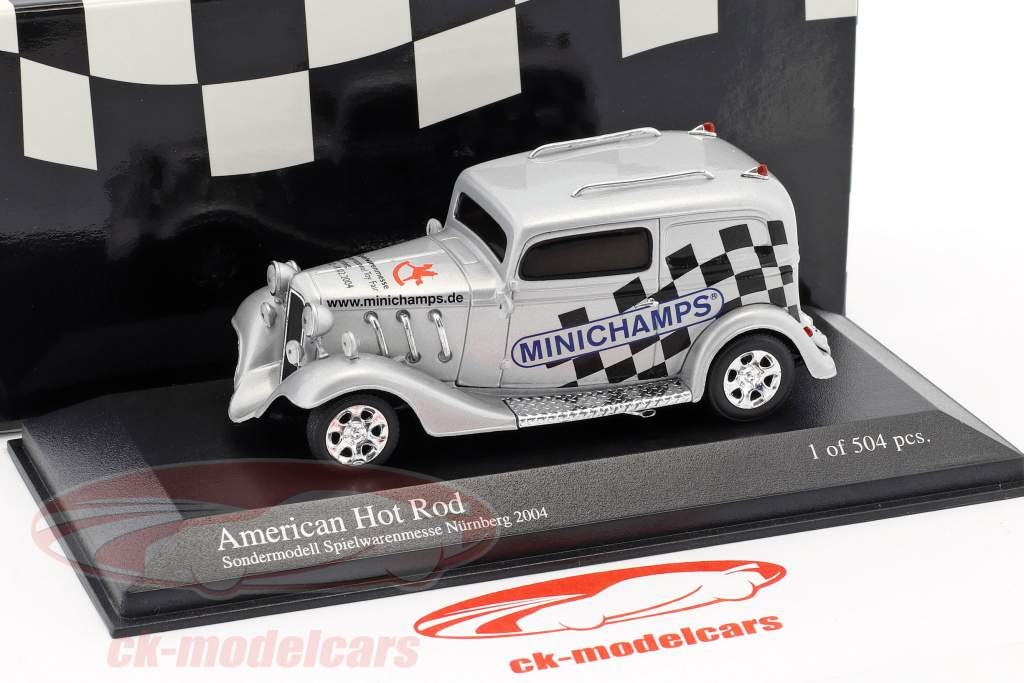 American Hot Rod sPECIAL EDITION Spielwarenmesse Nürnberg 2004 argento 1:43 Minichamps