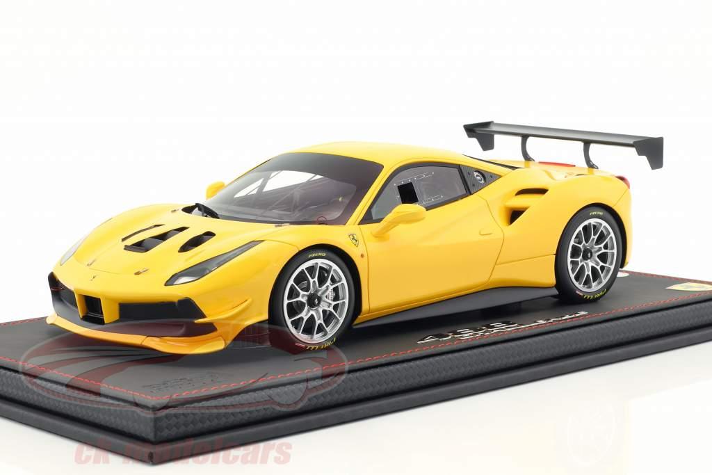 Ferrari 488 Challenge année de construction 2016 modena jaune 1:18 BBR