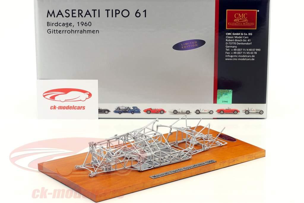 Maserati Tipo 61 Birdcage Bouwjaar 1960 space frame 1:18 CMC
