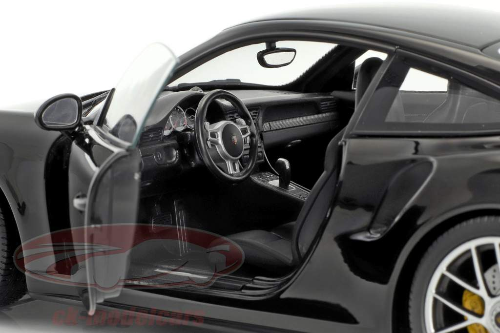 Porsche 911 (991 II) Turbo S anno di costruzione 2016 nero 1:18 Minichamps