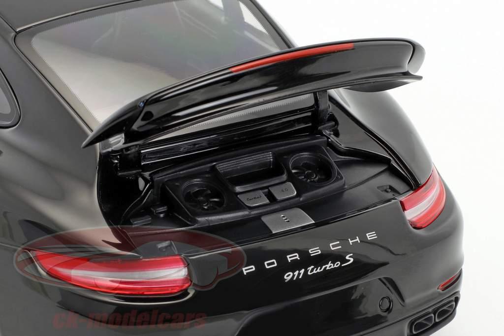 Porsche 911 (991 II) Turbo S année de construction 2016 noir 1:18 Minichamps