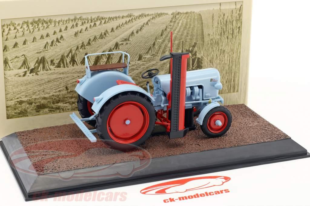 Eicher Tiger tracteur année de construction 1959 bleu clair 1:32 Atlas
