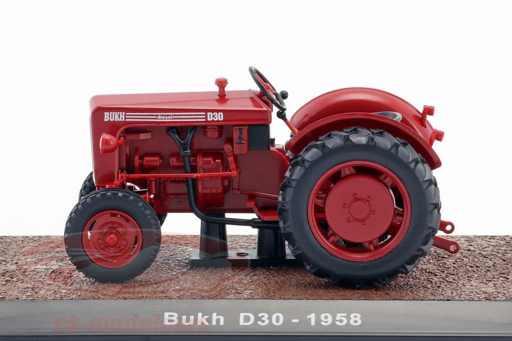 Bukh D30 tracteur année de construction 1958 rouge 1:32 Atlas