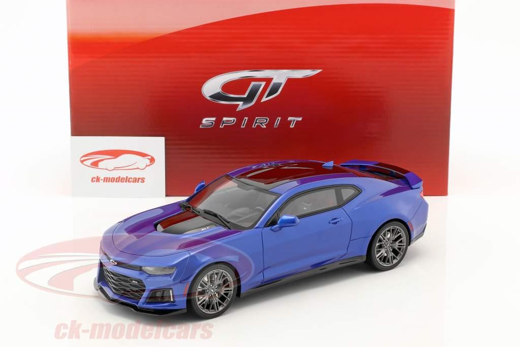 Chevrolet Camaro ZL1 année de construction 2017 hyper bleu 1:18 GT-Spirit