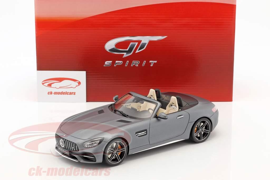 Mercedes-Benz AMG GT-C Baujahr 2017 designo magno selenite grau 1:18 GT-Spirit