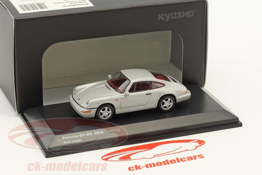 Porsche 911 (964) RS argent métallique 1:64 Kyosho