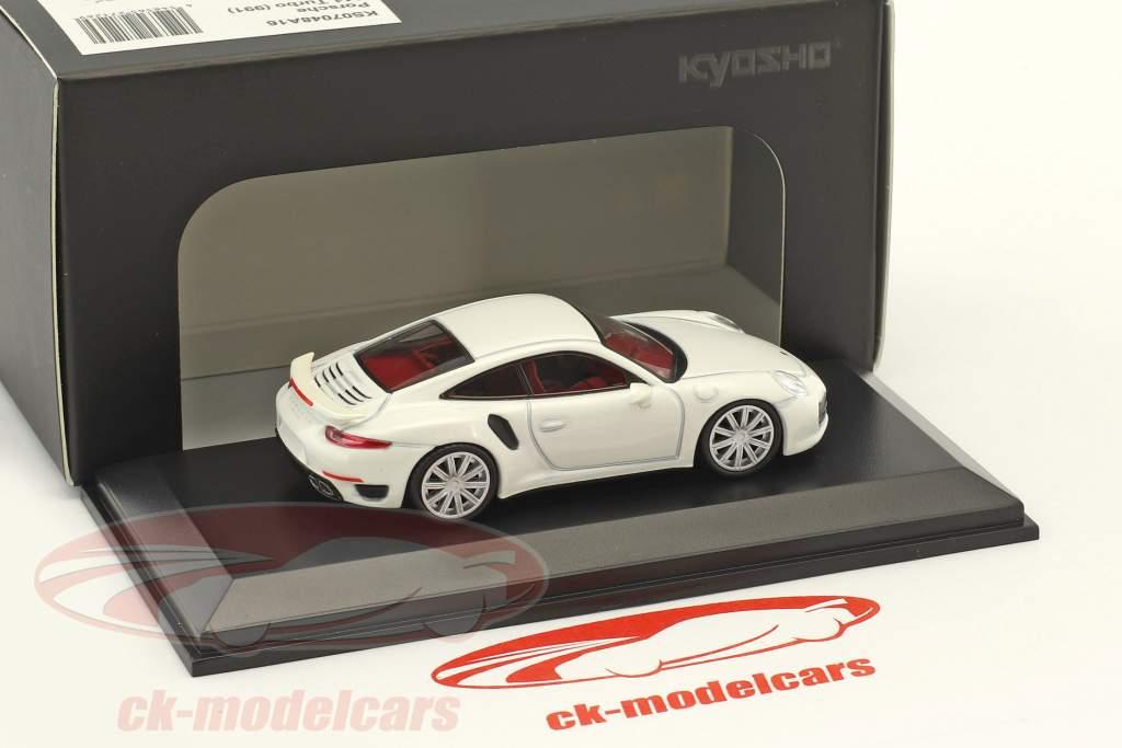 Porsche 911 (991) Turbo pearl weiß 1:64 Kyosho