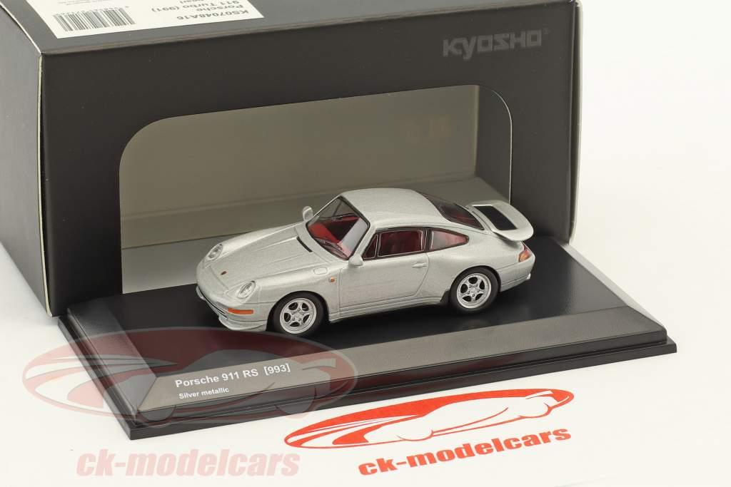 Porsche 911 (993) RS silver metallic 1:64 Kyosho