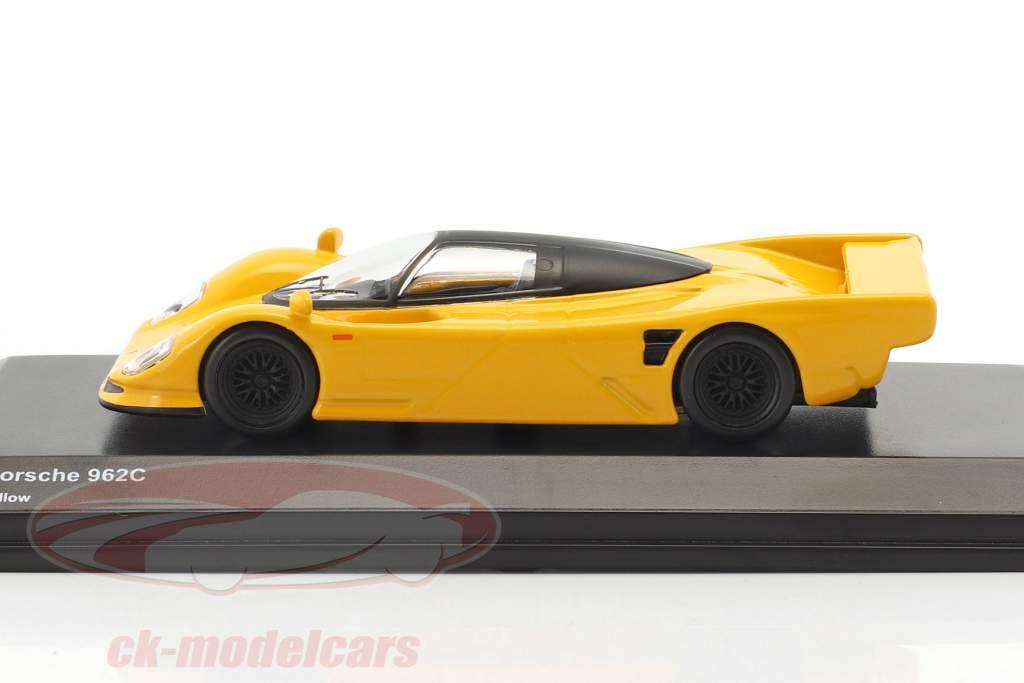 Porsche 962C giallo 1:64 Kyosho