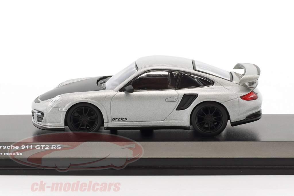 Porsche 911 GT2 RS argento metallico / nero 1:64 Kyosho