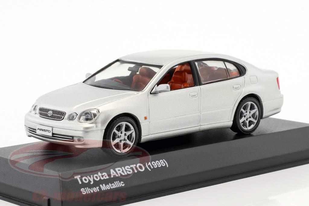 Toyota Aristo année de construction 1998 argent métallique 1:43 Kyosho