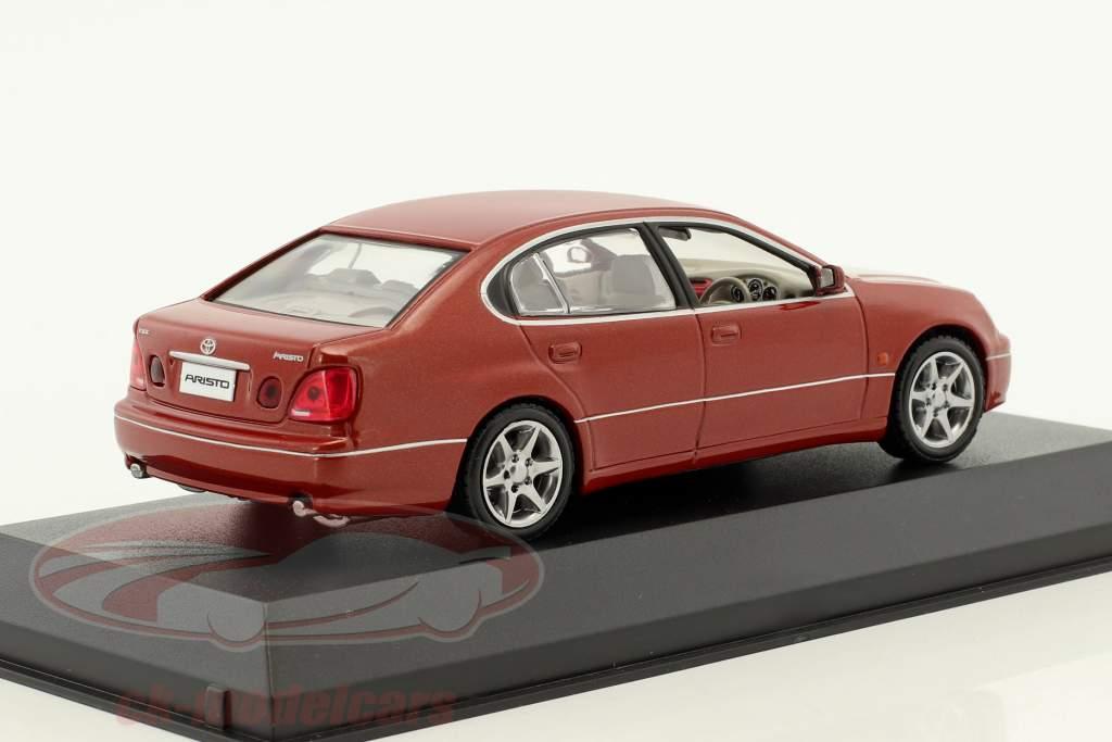 Toyota Aristo anno di costruzione 1998 rosso 1:43 Kyosho