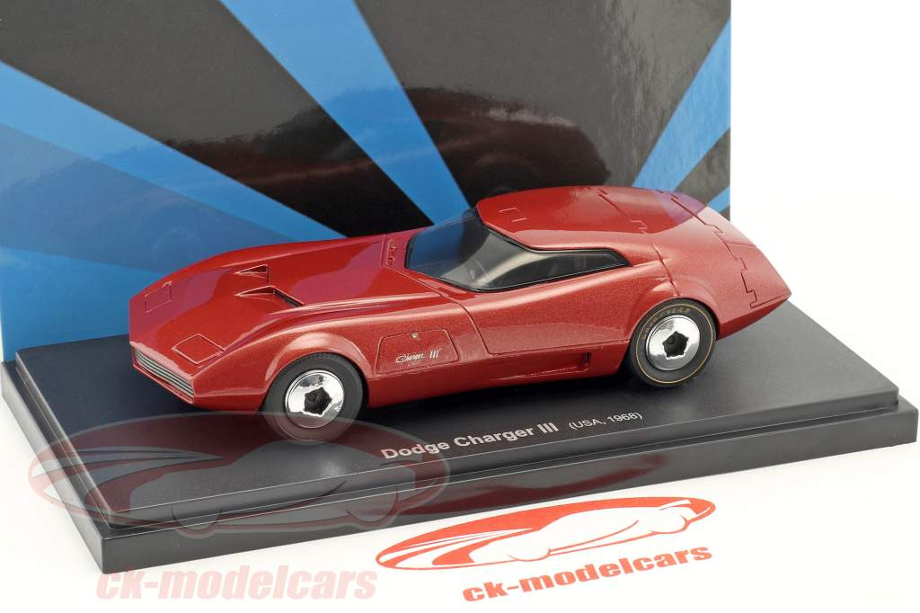 Dodge Charger III year 1968 red 1:43 AutoCult