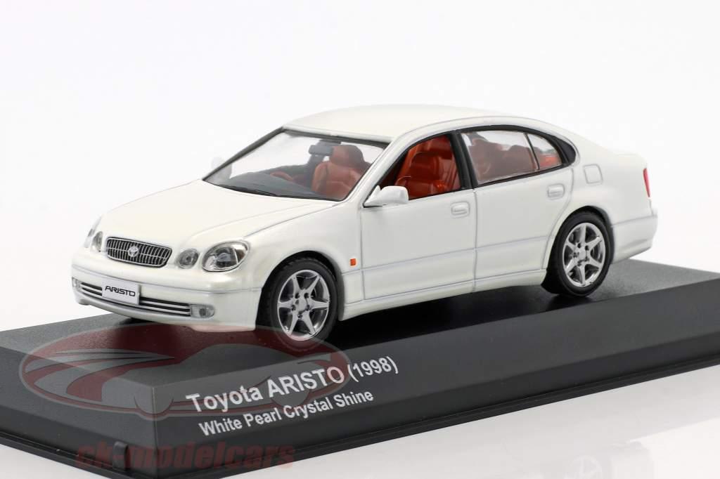 Toyota Aristo ano de construção 1998 cristal branco 1:43 Kyosho