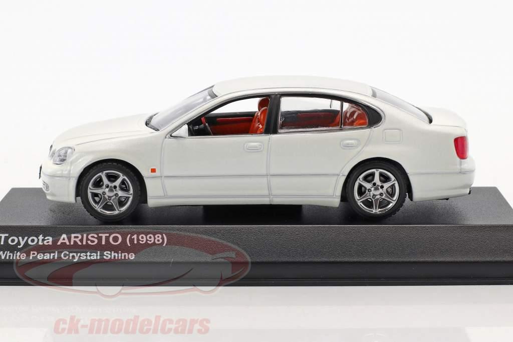 Toyota Aristo año de construcción 1998 cristal blanco 1:43 Kyosho