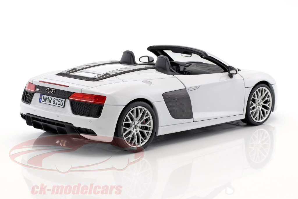 2-Car Set Audi R8 Spyder V10 suzuka grau & dynamit rot 1:18 iScale