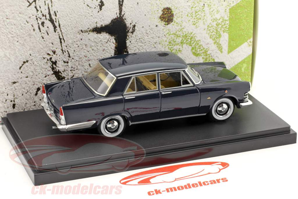 Fiat 2100 Berlina Speciale year 1959 dark blue 1:43 AutoCult