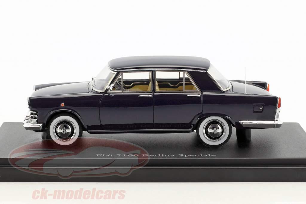 Fiat 2100 Berlina Speciale année de construction 1959 bleu foncé 1:43 AutoCult